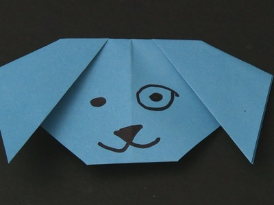 How to make a Paper Dog - Easy Origami for Kids
