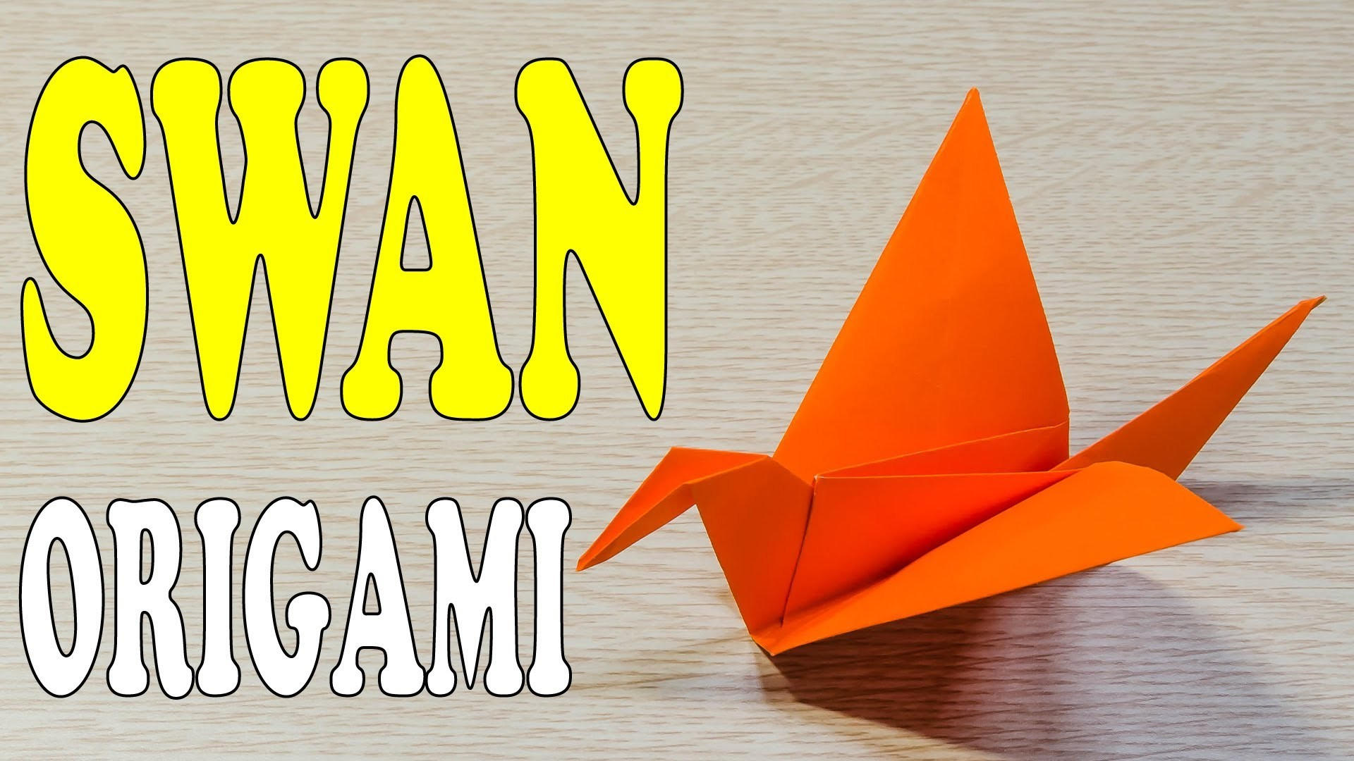 How to Make a paper Swan Origami - Flapping Wings