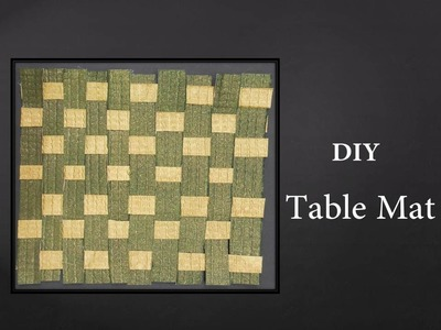 How to make a Woven Paper Mat