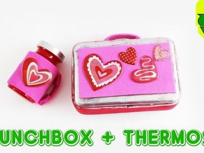 How to make an AMERICAN GIRL  doll lunchbox and thermos version 1 - Easy Doll Crafts