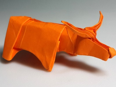 How to make an origami water buffalo (Henry Phạm)
