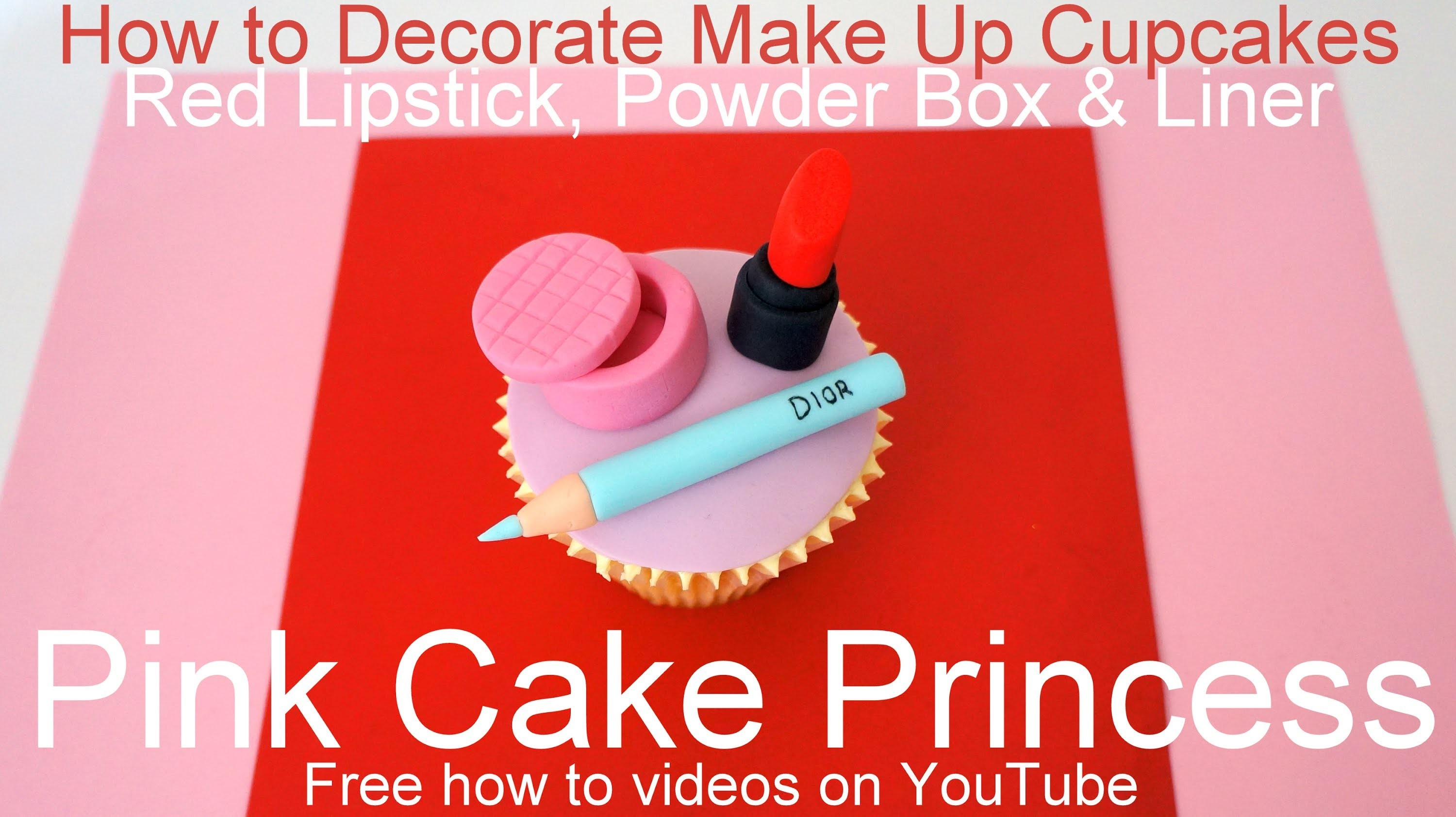 How to Make Edible Cosmetics Cupcakes (4)