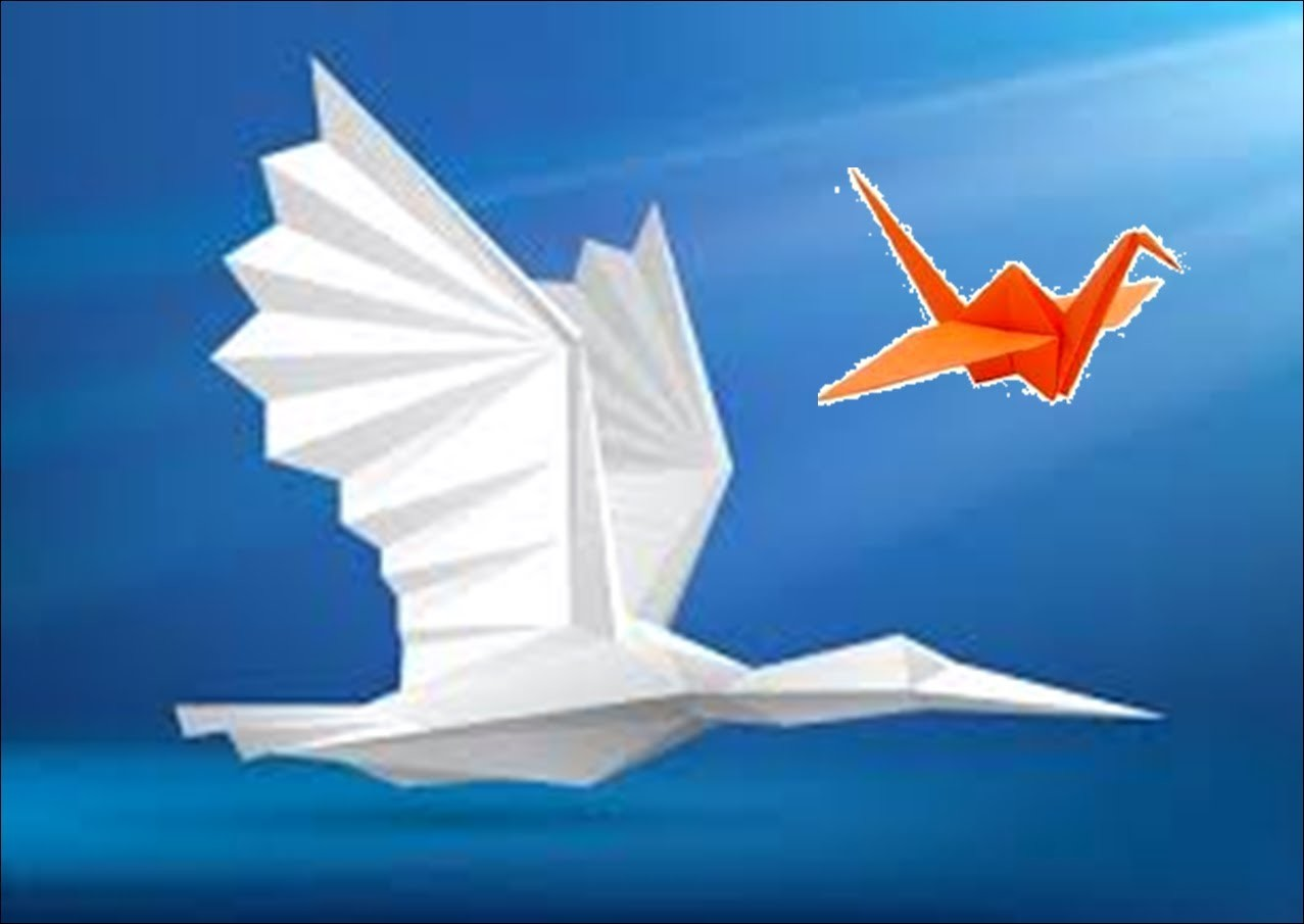 How to make flying paper bird easily