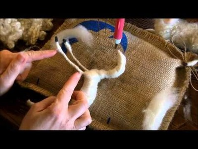 How to Needle Felt:  Sheep and Lamb 4 by Sarafina Fiber Art