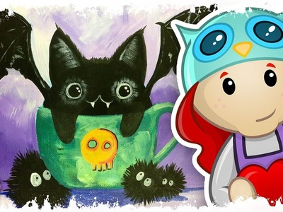 How to paint | Kawaii Cat Bat | The Art Sherpa for Kids