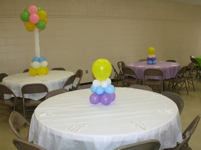 "How to ""Simple and Affordable"" Balloon Centerpiece - Baby Shower, Sweet 16, Party"