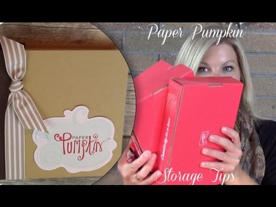How to store your Paper Pumpkin kit stamp sets with Project Life
