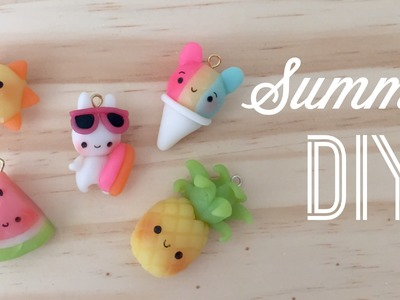 Kawaii Polymer Clay Tutorial - DIY Cute Summer Charms