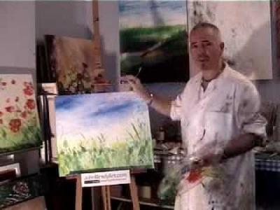 Painting Wild Poppies Part 2 from John Brady Art.ie