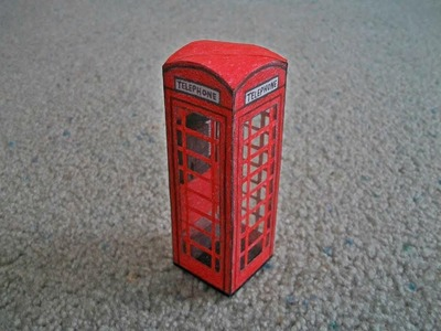 Paper Model of a London Telephone Booth