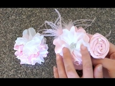 Peony Fabric Flower Tutorial with Artemis in Love (Part 3 of Fabric Headband)