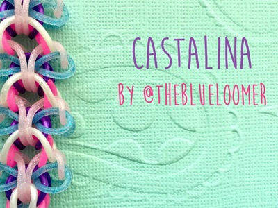 Rainbow Loom Bands Castalina By @TheBlueLoomer (No Hook, No Loom, two peg tutorial)