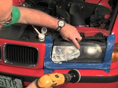 Renewing Plastic Headlight Lenses on a BMW or MINI