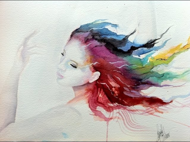 Speed Painting- Watercolor 'The Dancer'