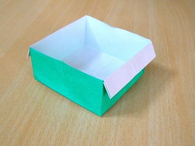 The art of folding paper. Box
