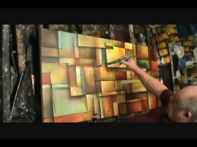 Abstract Art painting 'Alter the Truth' Modern, contemporary, Mix Lang How to demo.