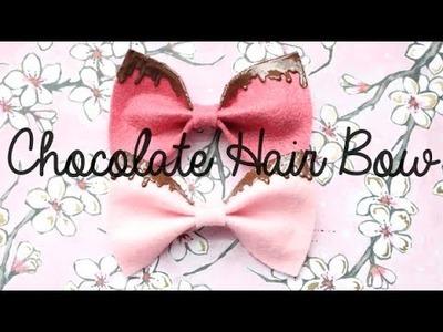 Chocolate Hair Bow!