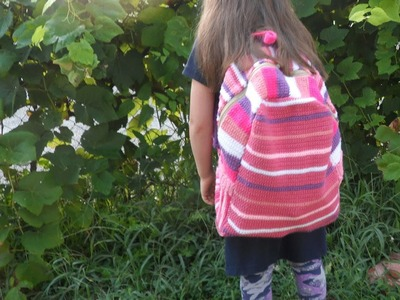 Crochet backpack pattern part 5