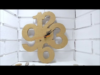 DIY Cardboard Clock - Easy crafts - Cardboard Crafts