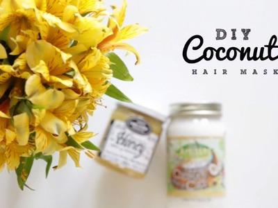 DIY Damaged Hair Repairing Coconut Mask