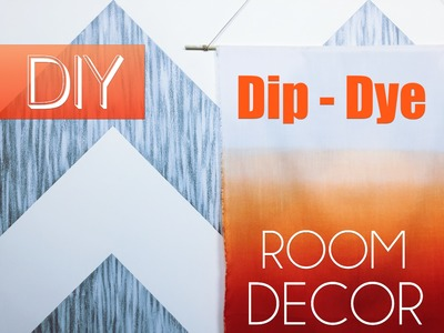 DIY Dip Dye Wall Art | Dorm Room Decor | Robeson Design