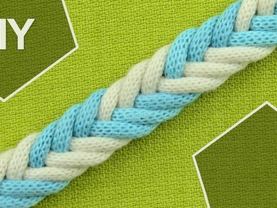 DIY: Easy 6-Strand Flat Arrow Braid in 2 colors