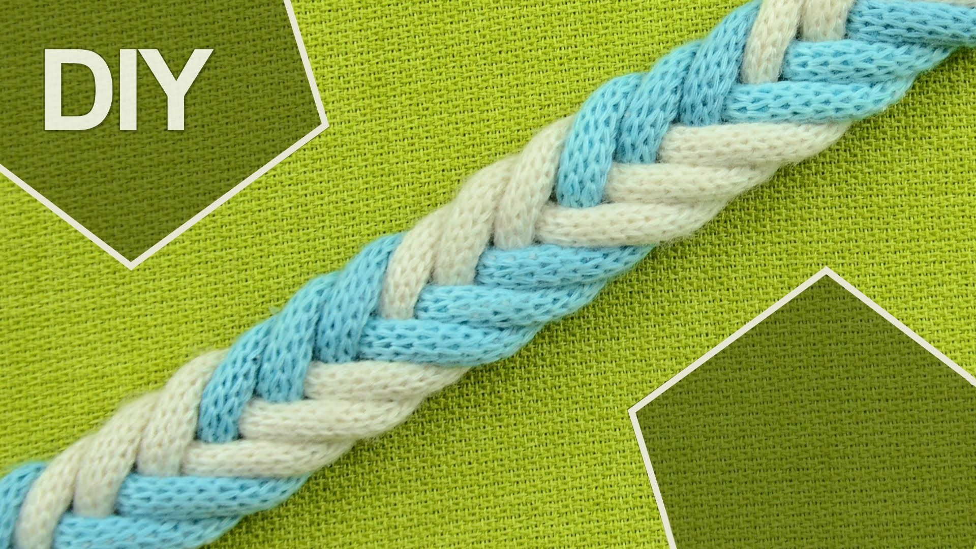 DIY: Easy 6-Strand Flat Arrow Braid in 2 colors