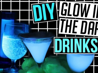 DIY Glow in the Dark Drinks for HALLOWEEN! CartneyBreanne