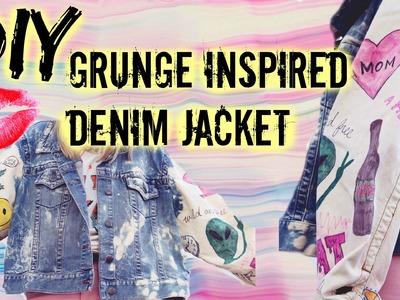 DIY♡ Grunge Inspired Bleached Denim Jacket