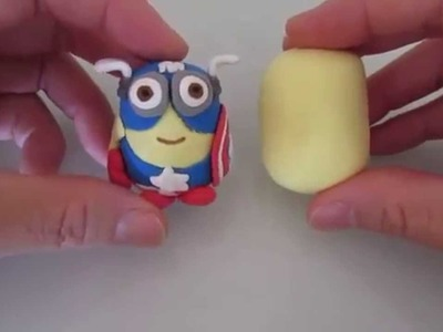 DIY How to Make a Minion - Marvel Captain America Minion w.Model Magic (1 of 2)