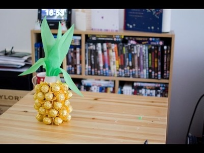 DIY How to make Chocolate Pineapple gift with a bottle of Champagne
