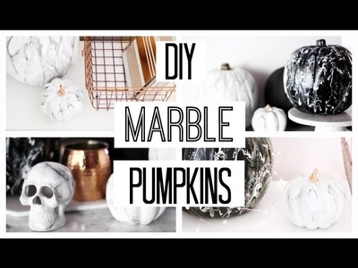 DIY Marble Painted Pumpkins | Easy Fall Decor Ideas