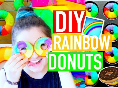 DIY RAINBOW DONUTS! | Gay Pride Inspired | Katharine Ward