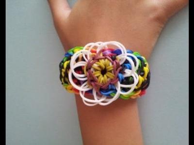 DIY Rainbow Loom® Carnation Bracelet Lección 54