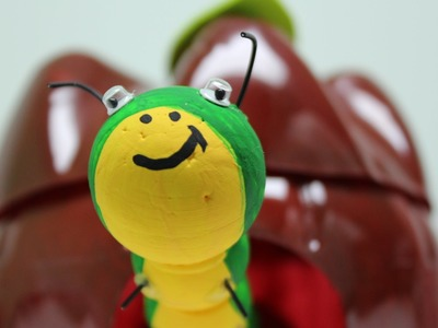 DIY Recycling Crafts for Kids: An Apple with Surprise by Recycled Bottles Crafts
