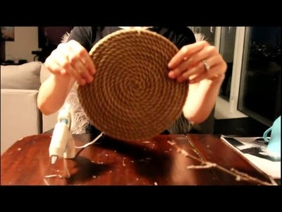 DIY Rope Placemat or Coaster For Rustic Table Setting