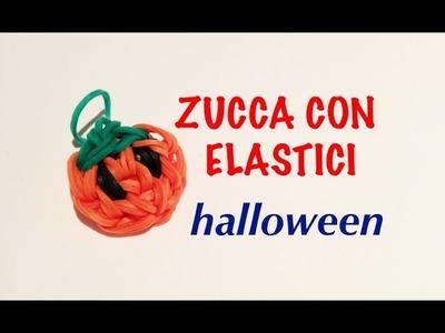 DIYzucca con elastici HALLOWEEN TUTORIAL RAINBOW LOOM HALLOWEEN PUMPKIN