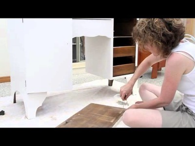 Dressing table restoration - Shabby Chic Furniture Makeover