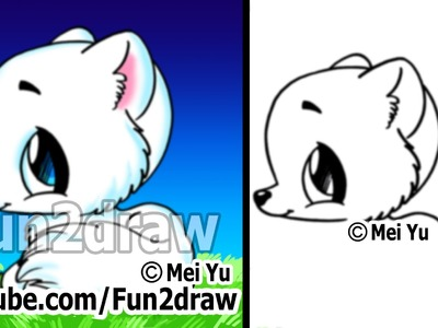 Easy Things to Draw Cute Animals - Drawing Tutorial - Arctic Fox (Easy!)