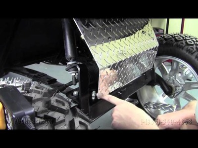 EZGO Diamond Plate Axle Cover | How To Install Video | Installing Golf Cart Diamond Plate