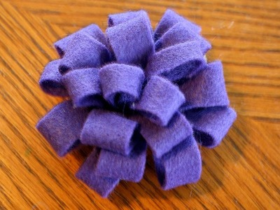 Felt pom pom FLOWER hairbow tutorial V2