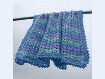 Fuzzy Ripple Baby Blanket Crochet Pattern