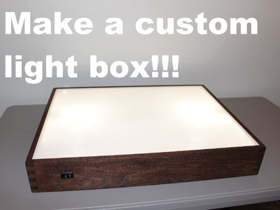How to build a light box!