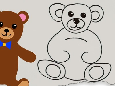 How to Draw a Teddy Bear by HooplaKidz Doodle | Drawing Tutorial