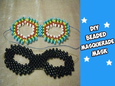 How to Make a Beaded Masquerade Mask (Kandi) - [www.gingercande.com]