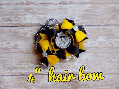 How to make a cute 4 inch boutique stack hair bow (step by step tutorial)