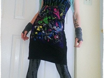 How to make an Apron Dress - Tshirt Reconstruction