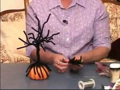 How to Make Halloween Centerpieces : How to Make a Dead Tree Halloween Centerpiece