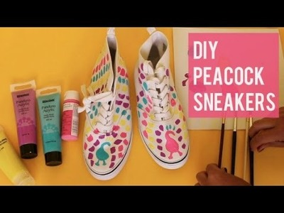 How To Paint Peacock Sneakers