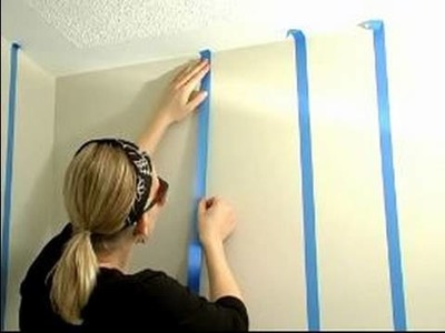 How to Paint Stripes on Your Walls : How to Tape for Painting Stripes on a Wall